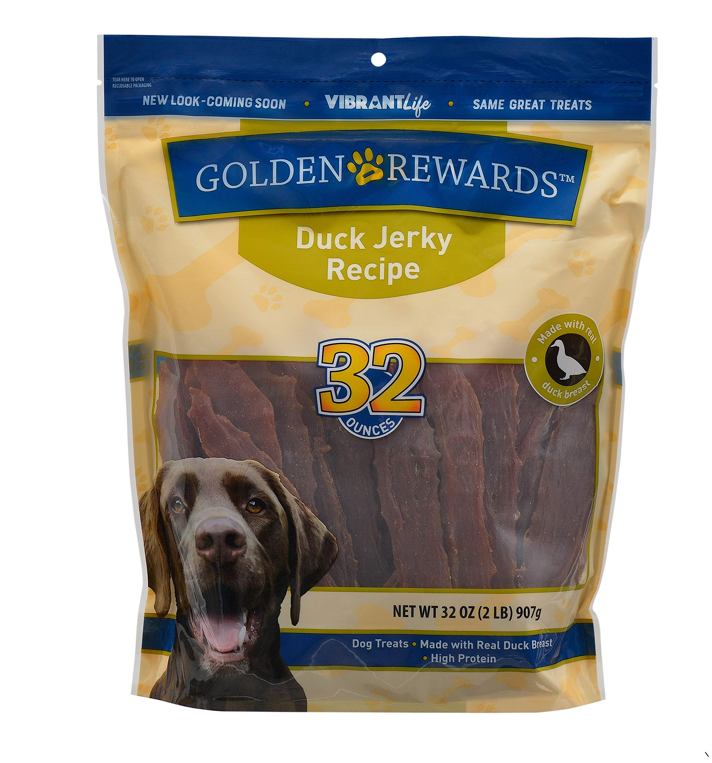 PACK OF 2 - Golden Rewards Duck Jerky Dog Treats, 32 oz