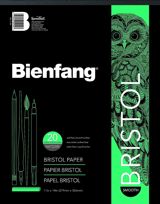 Bienfang R211121 Bristol Paper Pad, Smooth Surface, 20 Sheets, 9' x 12' 9 x 12