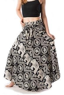 QZUnique Womens Full//Ankle Length Blending Maxi Chiffon Long Skirt Beach Skirt