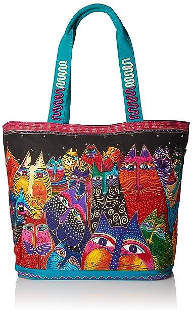 Amazon.com: Laurel Burch fantasticats hombro bolsa: Arte ...