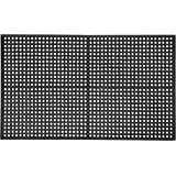 """AmazonCommercial Anti-Fatigue Drainage Mat, Rubber, 3' X 5', 1/2"""" Thickness, Black General-Purpose"""