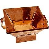 Havan Kund with base in Copper - medium