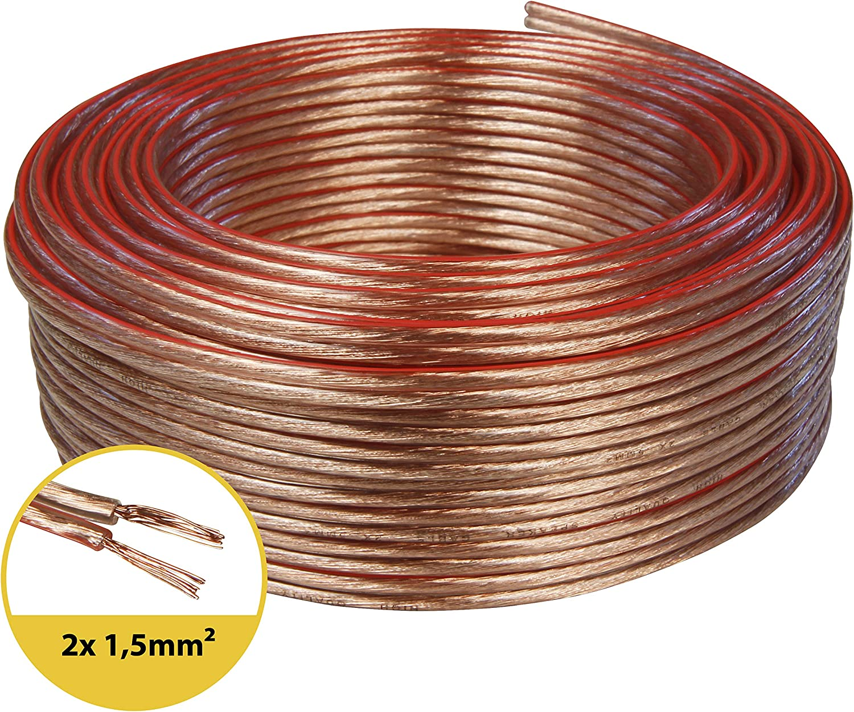 Zwilling Litz 2/x 2,50/mm/² toolcity Cable de Altavoz Color Blanco 25/m Box Cable//Cable de Audio