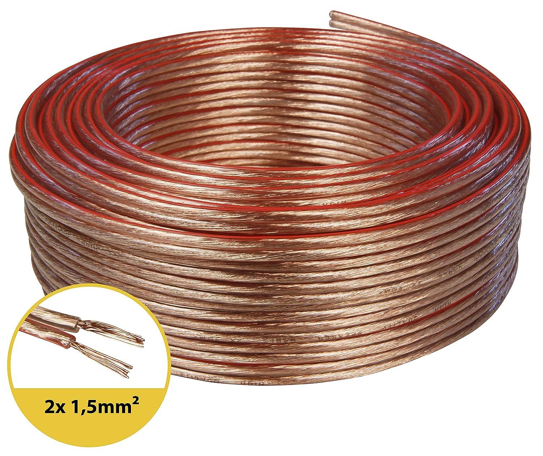 toolcity Cable de Altavoz Zwilling Litz Box Cable//Cable de Audio 10/m Color Blanco 2/x 2,50/mm/²