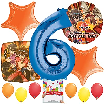 Bakugan Party Supplies Balloon Decoration Bundle for 6th Birthday: Toys & Games