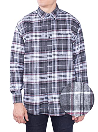 Flannel Shirt For Mens Long Sleeve Button Down Plaid Shirts at ...