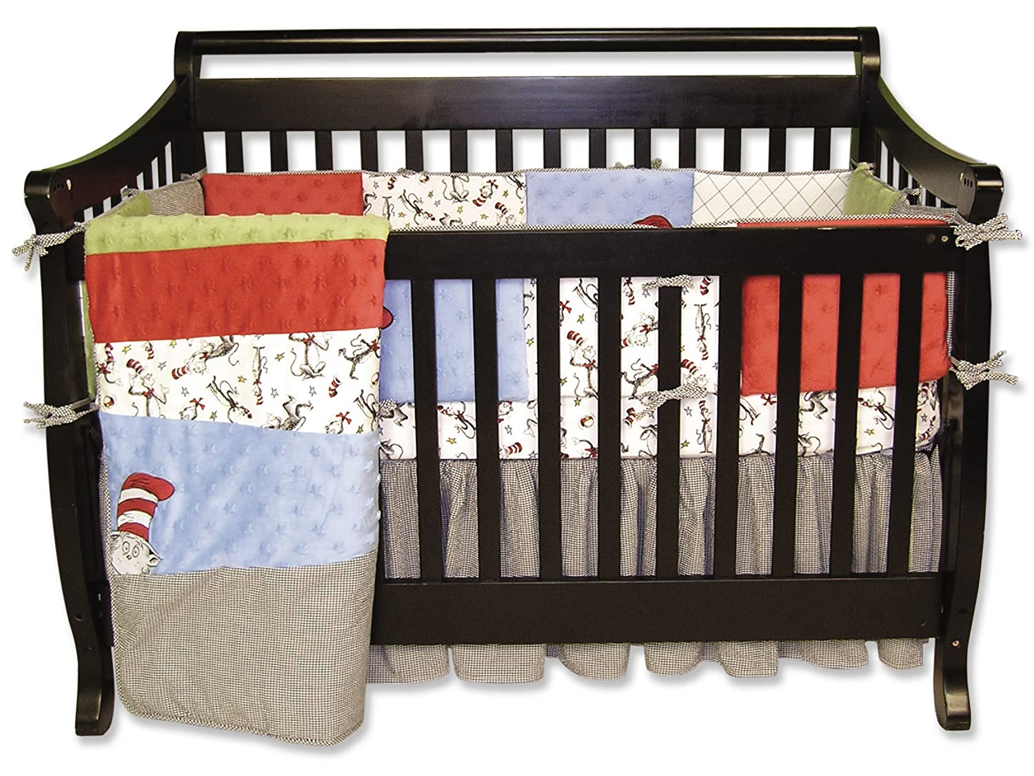 Amazon.com : Trend Lab Dr Seuss 4 Piece Crib Bedding Set, Cat In The Hat : Dr  Seuss Baby Bedding Bumper : Baby
