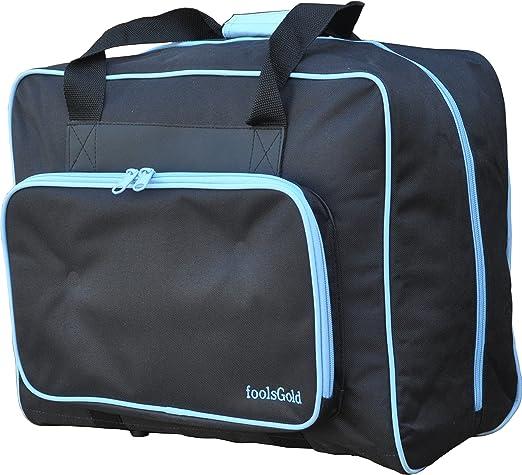 foolsGold Bolsa Acolchada para Transportar la Máquina de Coser - Negro/Azul