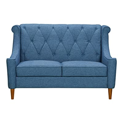 Armen Living LCLX2BLUE Luxe Loveseat, Blue