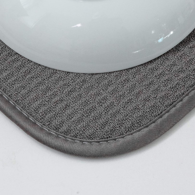 16 x 18 Black Schroeder /& Tremayne 407000 Microfiber Dish Drying Mat