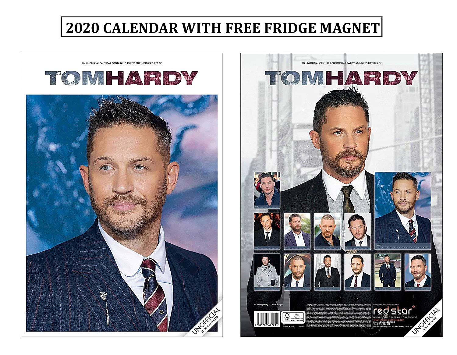 Tom Hardy Calendario 2020 With Tom Hardy Imán para Nevera: Amazon ...