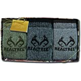 Realtree Outfitters Men's Socks Gift Box (3-Pair), Assorted, Large