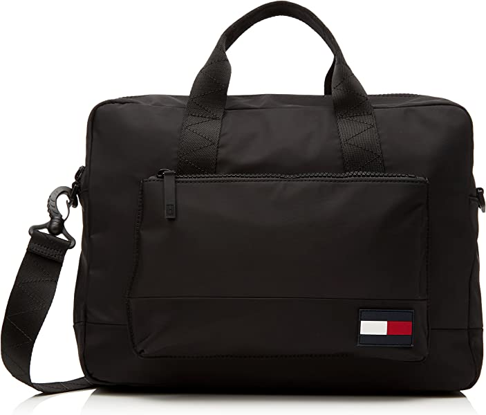 115411f089 Tommy Hilfiger Escape Computer Bag, Men's Laptop Black, 9x31x40 cm (B x H T