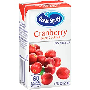Ocean Spray Cranberry Juice Boxes, 4.2 Ounce (Pack of 40)