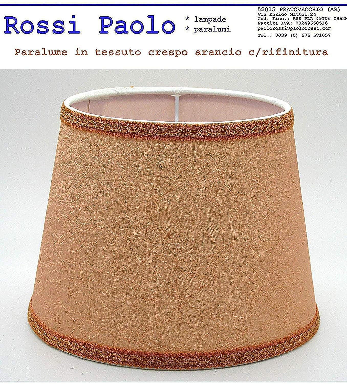 Pantalla clásica para lámpara de techo de tejido crespo naranja ...