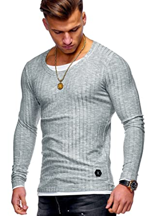 b1d35a9a97d0 MT Styles Herren 2in1 Pullover Oversize Feinstrick Hoodie MT-7318  Amazon.de   Bekleidung