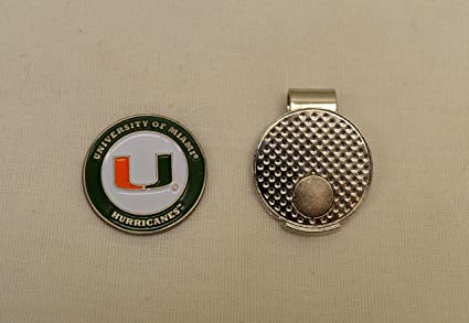 20214648bc1 Image Unavailable. Image not available for. Color  NCAA Miami University Golf  Ball Marker With Magnetic Hat Clip