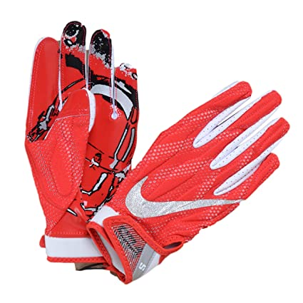 6c6aa82f6a1 Nike Superbad 4.0 Football Receiving Gloves (University Red White MetallicSilver