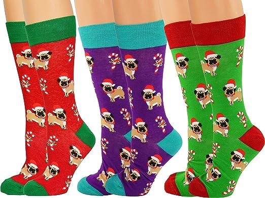 Children/'s Pugs Kitten Socks Pack Of 4 Girls Photo Print Socks Various Sizes