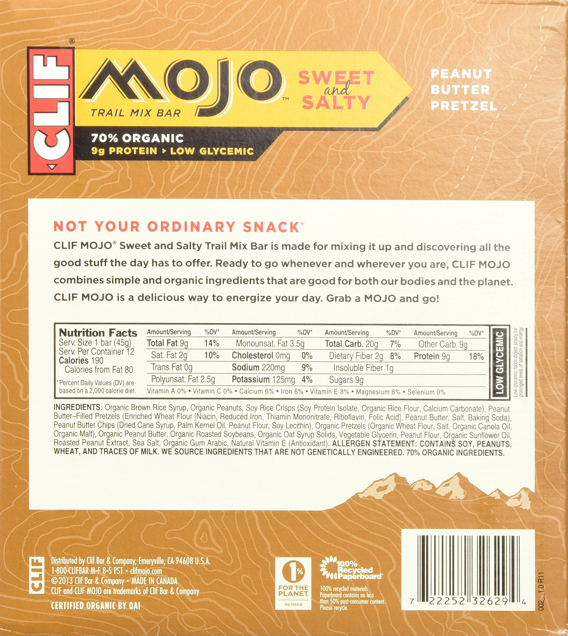Clif Mojo Bar, Peanut Butter Pretzel, Net Wt. 19.08 Oz. 12 Count (Pack of 2) by Clif Bar (Image #5)
