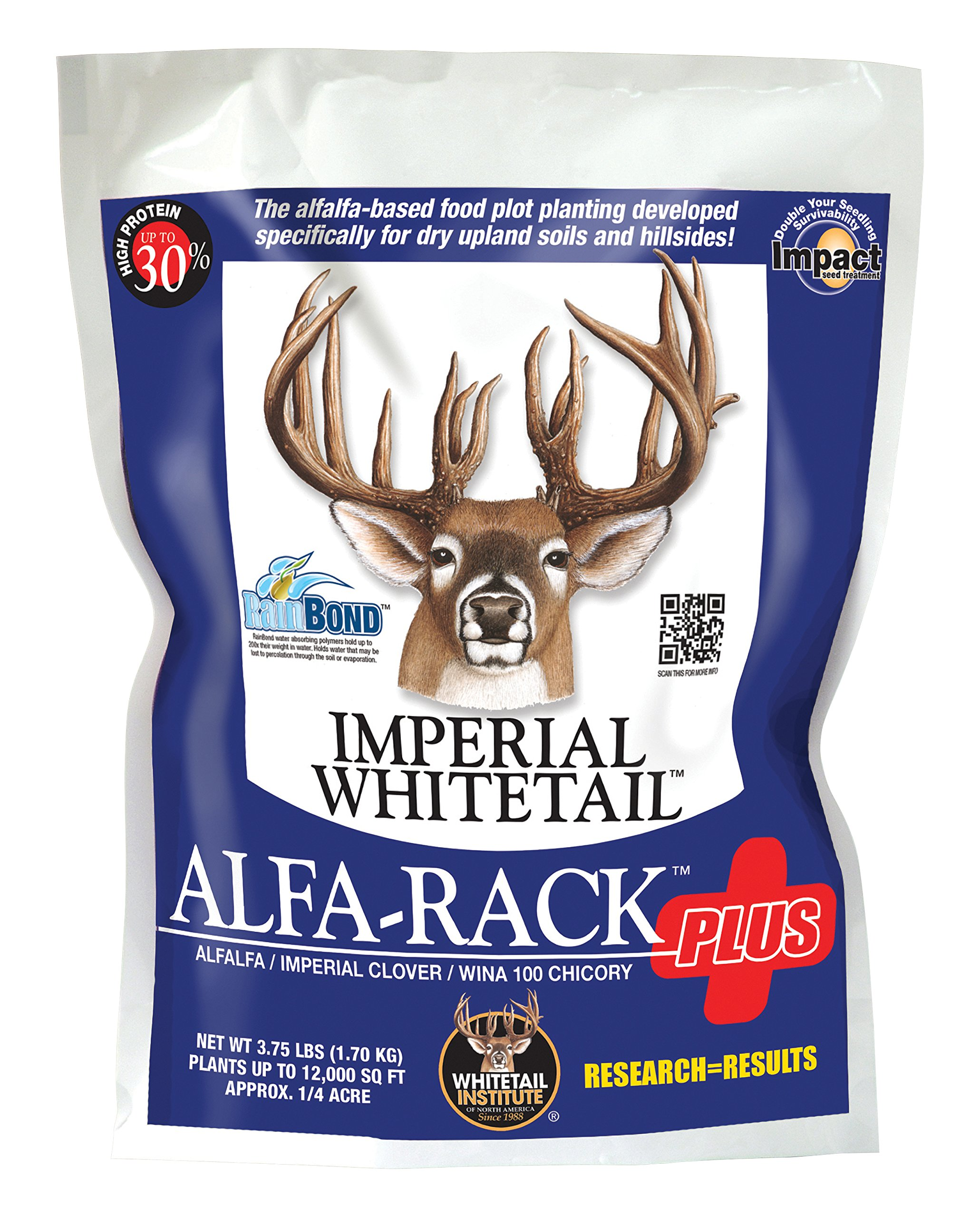 Whitetail Institute Imperial Alfa-Rack Plus Food Plot Seed (Spring and Fall Planting), 16.5-Pound (1.25 Acres) by Whitetail Institute