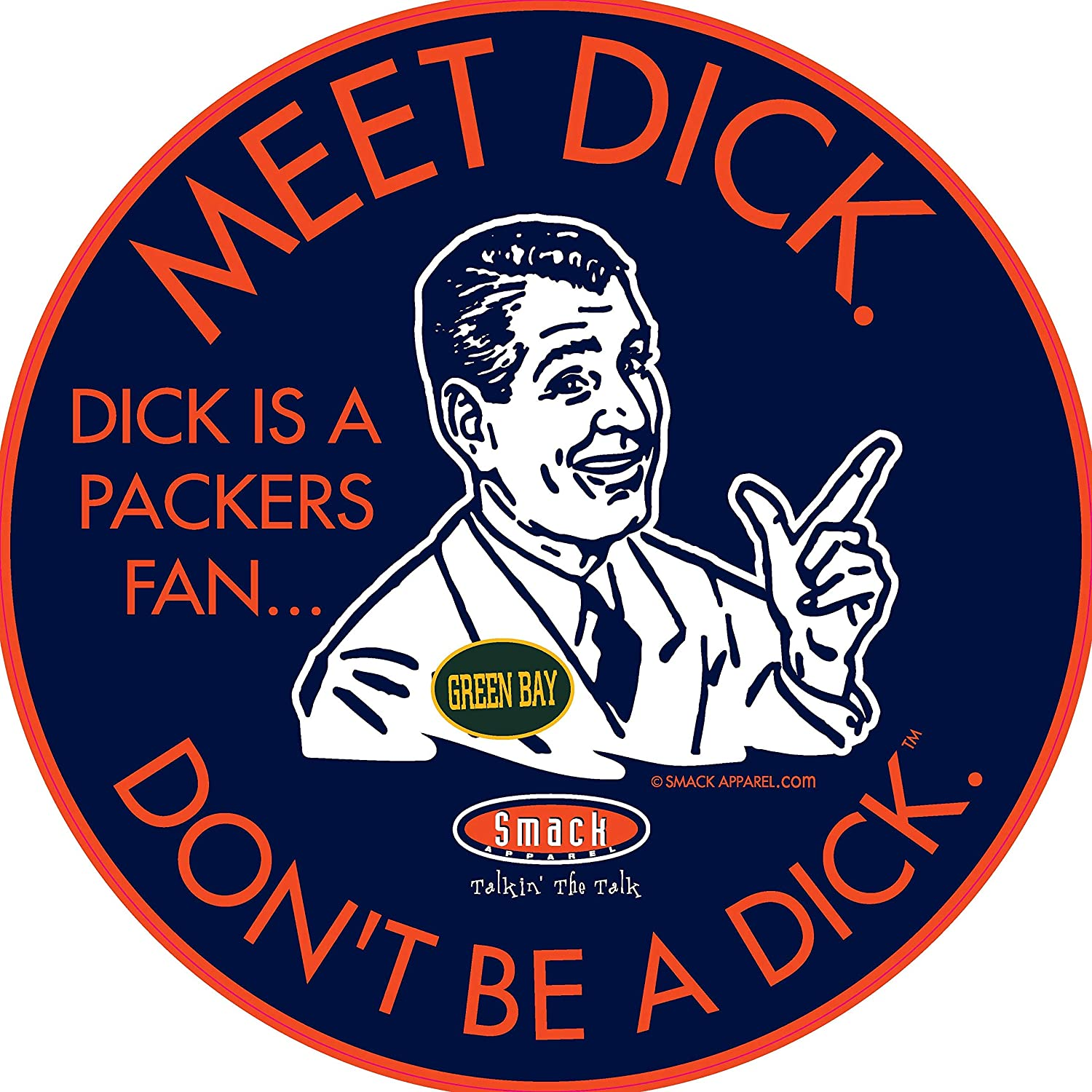 Dont be a D!ck Navy T-Shirt Sm-5X or Sticker Chicago Football Fans Anti-Packers