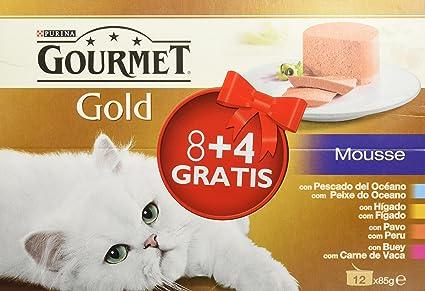 Friskies Gold Comida para Gatos, Pack de 12 x 85 gr