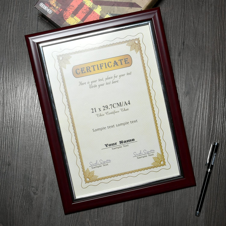 A4 11 × 21,6 cm Foto Diplom Dokument Rahmen ZERTIFIKATE Rahmen ...