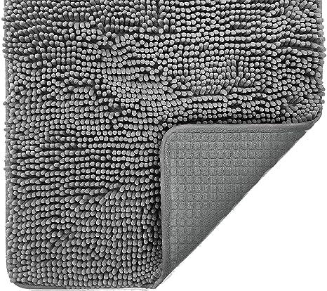Badvorleger Rutschfest Waschbar Badteppich Grau Weiche Absorbierende Duschvorleger Badgarnitur Aus Chenille Mit Dieser Superweichen Badezimmer