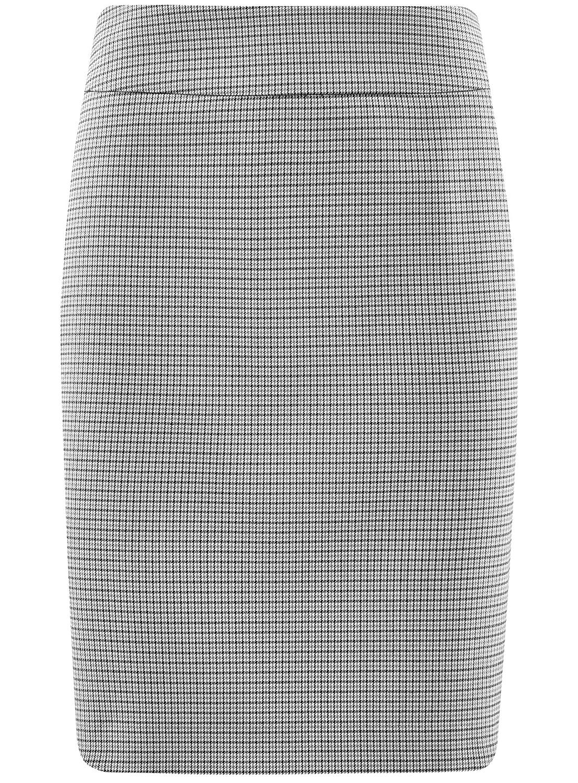 oodji Collection Womens Straight Jacquard Skirt