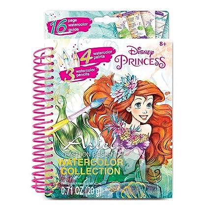 Watercolor Princess Party Online Invitation Coloring Page   Amazon Com Make It Real Disney Ariel Watercolor Small Disney