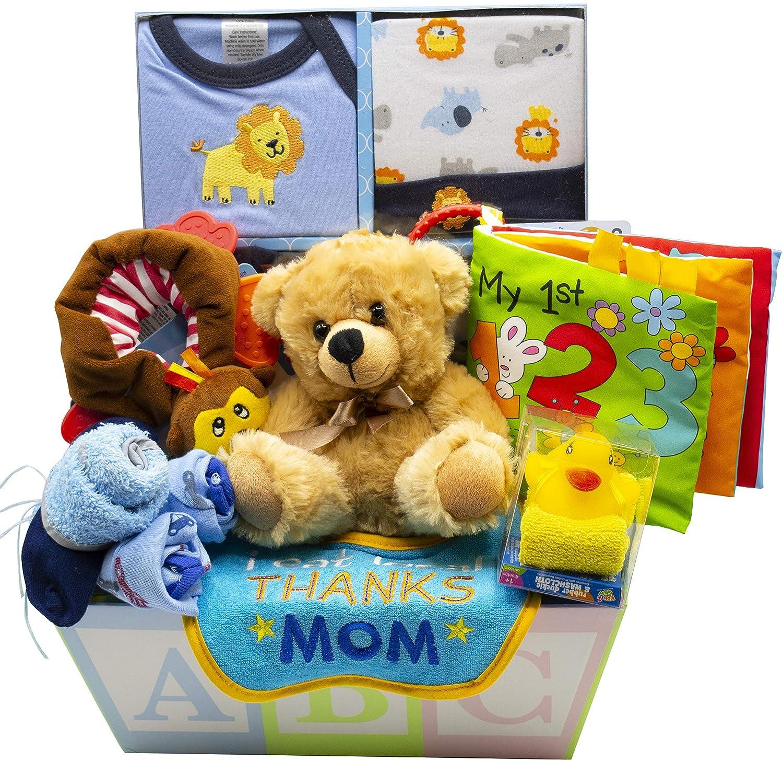 Sweet New Baby Gift Basket – Baby Boy Baby Girl Blue
