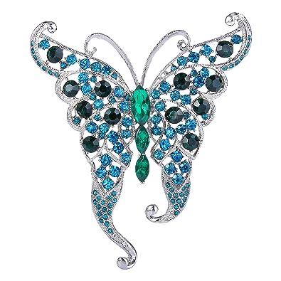 TENYE Women's Austrian Crystal Elegant Butterfly Insect Animal Brooch egj2UKza