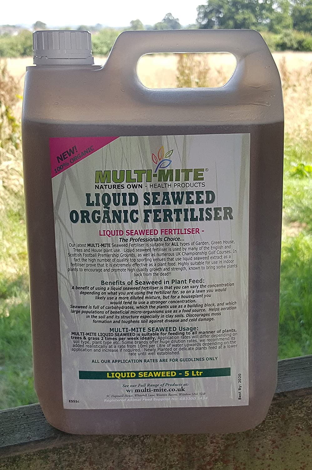 5 Ltr LIQUID SEAWEED FREE DELIVERY - Organic Concentrate - Multi-Mite®