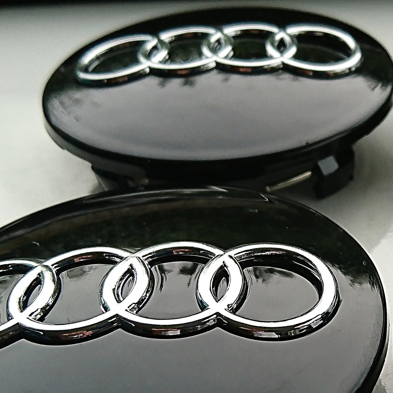 Tapacubos de neumáticos de repuesto para Audi en aleación de aluminio, 68 mm, para A1, A2, A3, A4, A5, A6, A7; 4 unidades: Amazon.es: Coche y moto