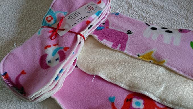 Easy Peasy Fleece Topped Nappy Booster pack of 5