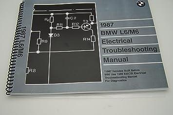 amazon com 1987 bmw m6 l6 635csi electrical service manual e24 rh amazon com
