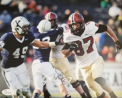 395abb437 Image Unavailable. Image not available for. Color: Cameron Brate  Autographed Signed 8x10 Harvard Crimson JSA