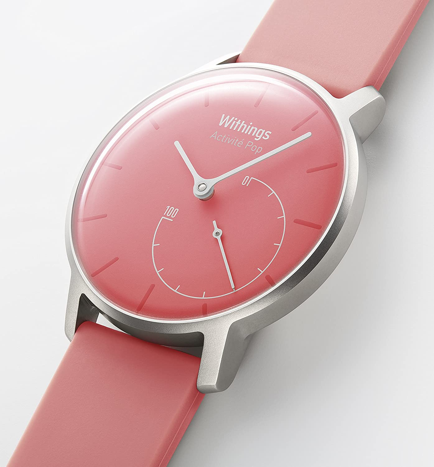 Withings Activité Pop - Activity and Sleep Tracking Watch- Coral Pink