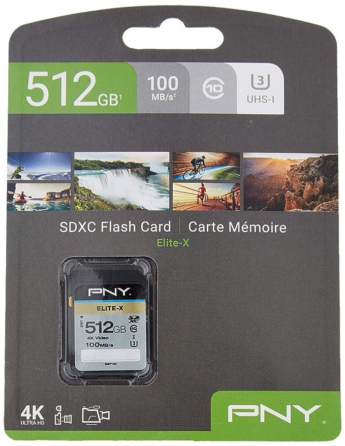 PNY Elite-X Memoria Flash 256 GB SDXC Clase 10 UHS-I - Tarjeta de ...