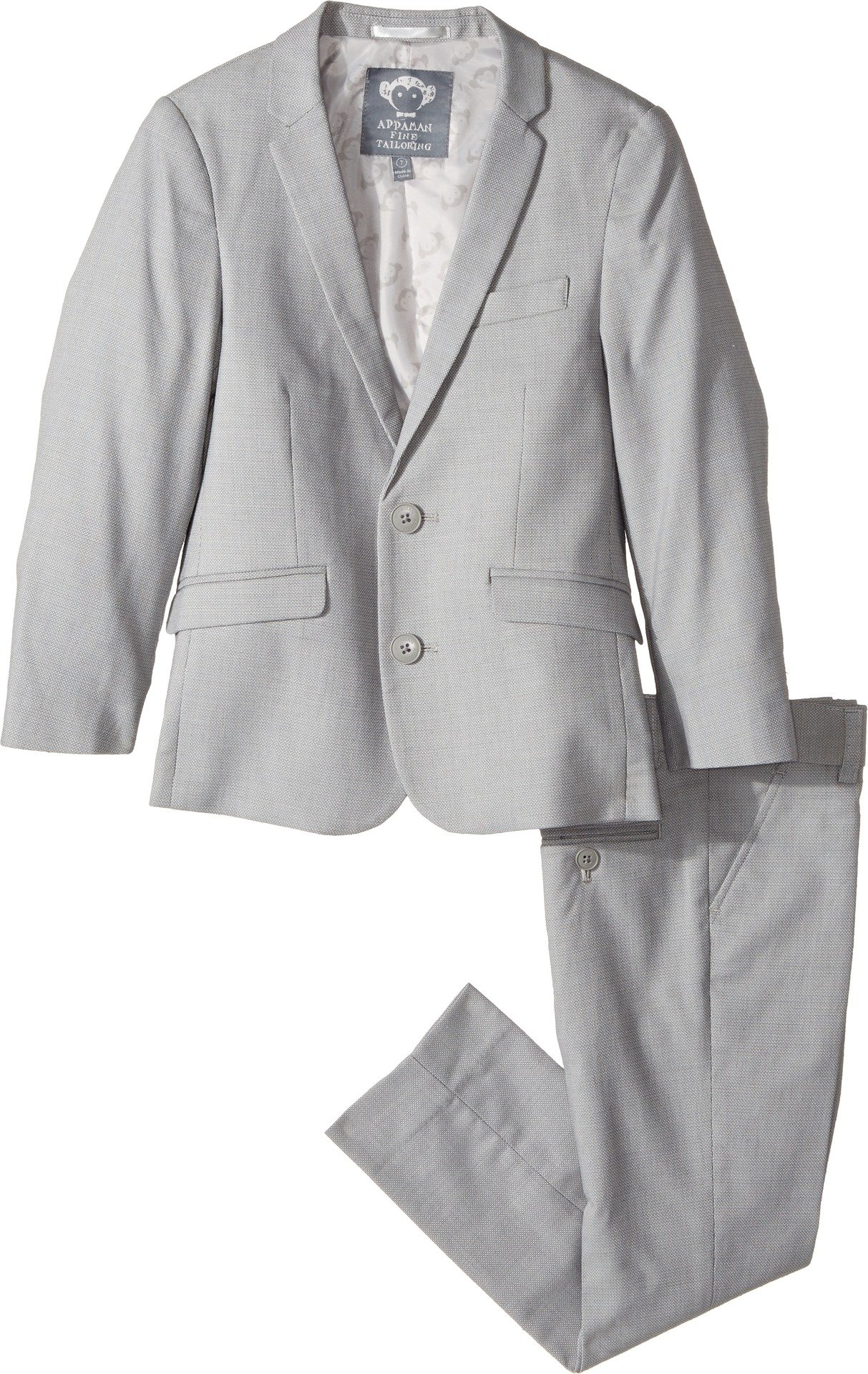 Appaman Little Boys' Two Piece MOD Suit, Chateau Grey, 7
