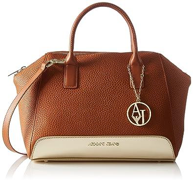 703e7b4d9140 Armani Jeans Women s C521RR8 Top-Handle Bag Orange Brown (Cuoio 7H ...