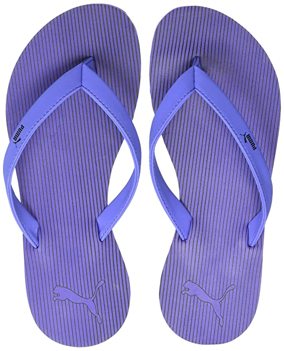 Puma Women's Ribbons Baja Blue-Black Flip-Flops Flip-Flops & House Slippers at amazon