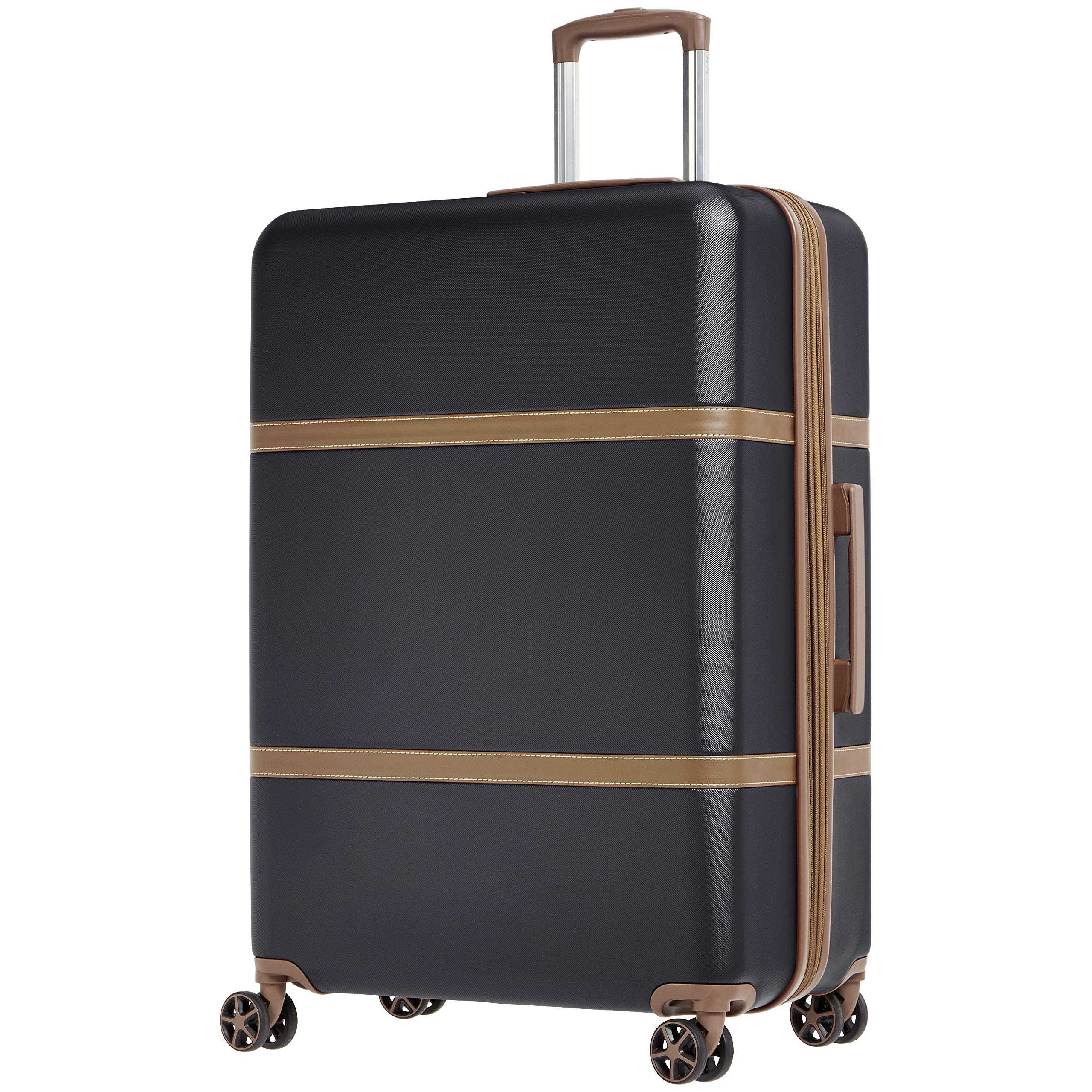AmazonBasics Vienna Expandable Luggage Spinner Suitcase - 28 Inch, Black