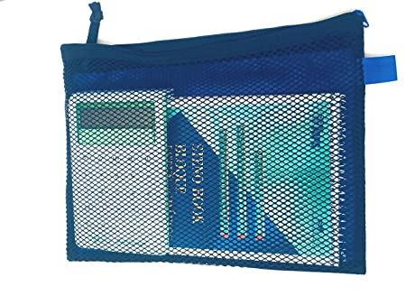 Amazon.com : School STG Bolsas Para lápices Con 2 Divisiones y zíper resistente, Azul Verde y Naranja (Green) : Office Products