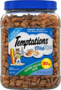 TEMPTATIONS MixUps Crunchy and Soft Cat Treats, 30 oz.