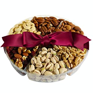 Simple Nuts Holiday Gift Baskets | Assorted Nuts Care Package, Ultra Fresh Nuts, Never Stale | Gourmet Food Snack Gift for Holidays, Christmas, Thanksgiving, New Year's & More | Fast, Secure Shipping