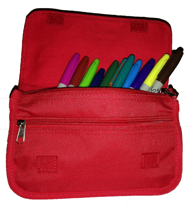 Cool Pencil Case white flower Pen Bag BlueBerry Design fx