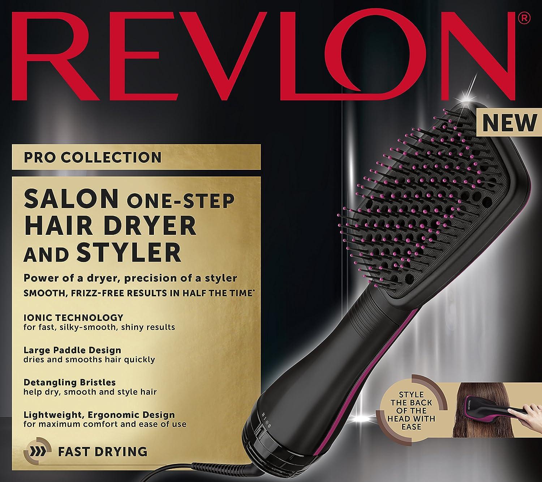 Secador de pelo y plancha, Revlon Pro Collection, de peluquería, en un paso RVDR5212: Amazon.es: Salud y cuidado personal