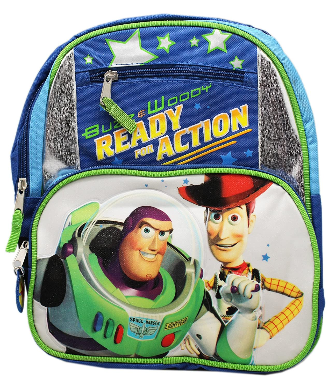 Disney 's Toy Story Buzz and Woody Ready for Action Smallバックパック(12in) B07DJSF1BB